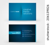 business card template vector... | Shutterstock .eps vector #206139826