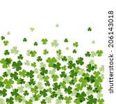 shamrock falling background | Shutterstock .eps vector #206143018