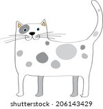 cartoon cat | Shutterstock . vector #206143429