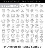 e commerce set vector icons...