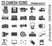 25 camera icons  premium quality | Shutterstock .eps vector #206153518