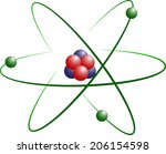 atom model of lithium with... | Shutterstock . vector #206154598