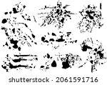 black silhouette spot with... | Shutterstock .eps vector #2061591716