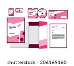 template for business artworks. ... | Shutterstock .eps vector #206169160
