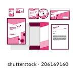 template for business artworks. ... | Shutterstock .eps vector #206169160