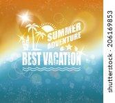 abstract summer background.    Shutterstock . vector #206169853