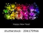 vector happy new year   2015... | Shutterstock .eps vector #206170966