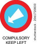 compulsory keep left sign vector