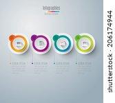 abstract 3d digital... | Shutterstock .eps vector #206174944