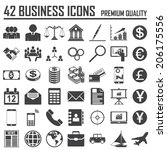 42 business icons set. premium...   Shutterstock .eps vector #206175556