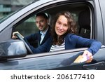 view of a couple in his car... | Shutterstock . vector #206177410