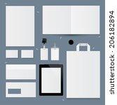 set of corporate identity... | Shutterstock .eps vector #206182894