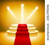 illuminated stage podium for...   Shutterstock .eps vector #206190046