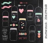 chalkboard wedding jars   Shutterstock .eps vector #206194168