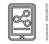 icon digital marketing line...