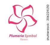vector of plumeria  frangipani  ... | Shutterstock .eps vector #206224150