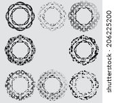 grunge shapes    Shutterstock .eps vector #206225200