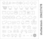 line icon set. trendy thin and...
