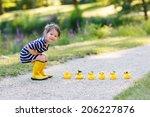 adorable little girl of 2... | Shutterstock . vector #206227876