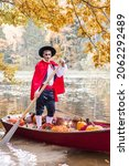 Young Man Dressed As Gondolier...