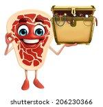 cartoon character of meat steak ... | Shutterstock . vector #206230366
