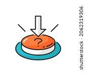 question mark push button ... | Shutterstock .eps vector #2062319306