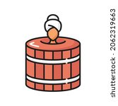 beauty procedure  woman bathing ... | Shutterstock .eps vector #2062319663