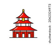 red asian temple of heaven... | Shutterstock .eps vector #2062324973