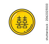 chinese coin of happiness with... | Shutterstock .eps vector #2062325033