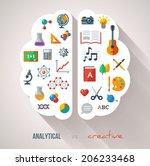 creative brain idea. vector... | Shutterstock .eps vector #206233468