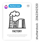 factory with smoke from chimney ... | Shutterstock .eps vector #2062342520