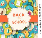back to school abstract... | Shutterstock .eps vector #206235970