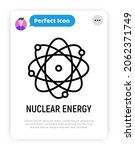 nuclear energy thin line icon ... | Shutterstock .eps vector #2062371749