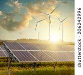 wind generators turbines and... | Shutterstock . vector #206242996