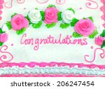 congratulations in iced writing ... | Shutterstock . vector #206247454