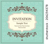 invitation card vintage style | Shutterstock .eps vector #206254378