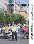 Kunming July 8  2014. Policema...