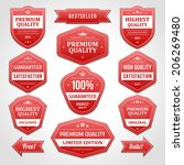 vintage vector design elements. ... | Shutterstock .eps vector #206269480