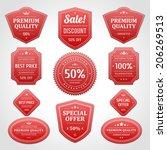 vintage vector design elements. ... | Shutterstock .eps vector #206269513
