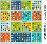 set of flat icons  health ... | Shutterstock .eps vector #206271409