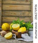 juicy and ripe organic lemons... | Shutterstock . vector #206273956