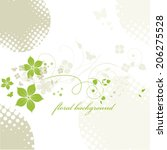 abstract flowers background... | Shutterstock .eps vector #206275528