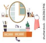 interior design of bathroom ...   Shutterstock .eps vector #2062861946