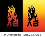 fire ab letter logo and icon...   Shutterstock .eps vector #2062887296