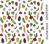 seamless kitchen background of... | Shutterstock .eps vector #206291959