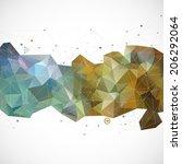vector abstract modern... | Shutterstock .eps vector #206292064