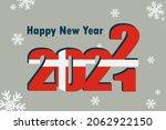 new year's card 2022. an... | Shutterstock .eps vector #2062922150