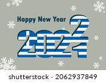 new year's card 2022. depicted  ... | Shutterstock .eps vector #2062937849