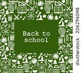 school children background with ... | Shutterstock .eps vector #206296048