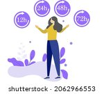 delivery in 12  24  48 and 72... | Shutterstock .eps vector #2062966553